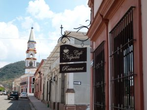 Café Napoles, just 2 blocks from the Plaza & Church !