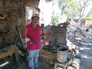 The local blacksmith at work !