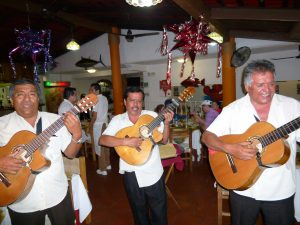 Mariachis add a bit of Mexican Flavor to your meal !